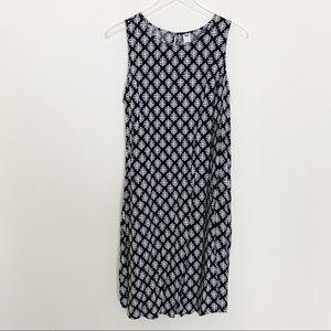 Plus Size Leaf Print Fit & Flare Dress